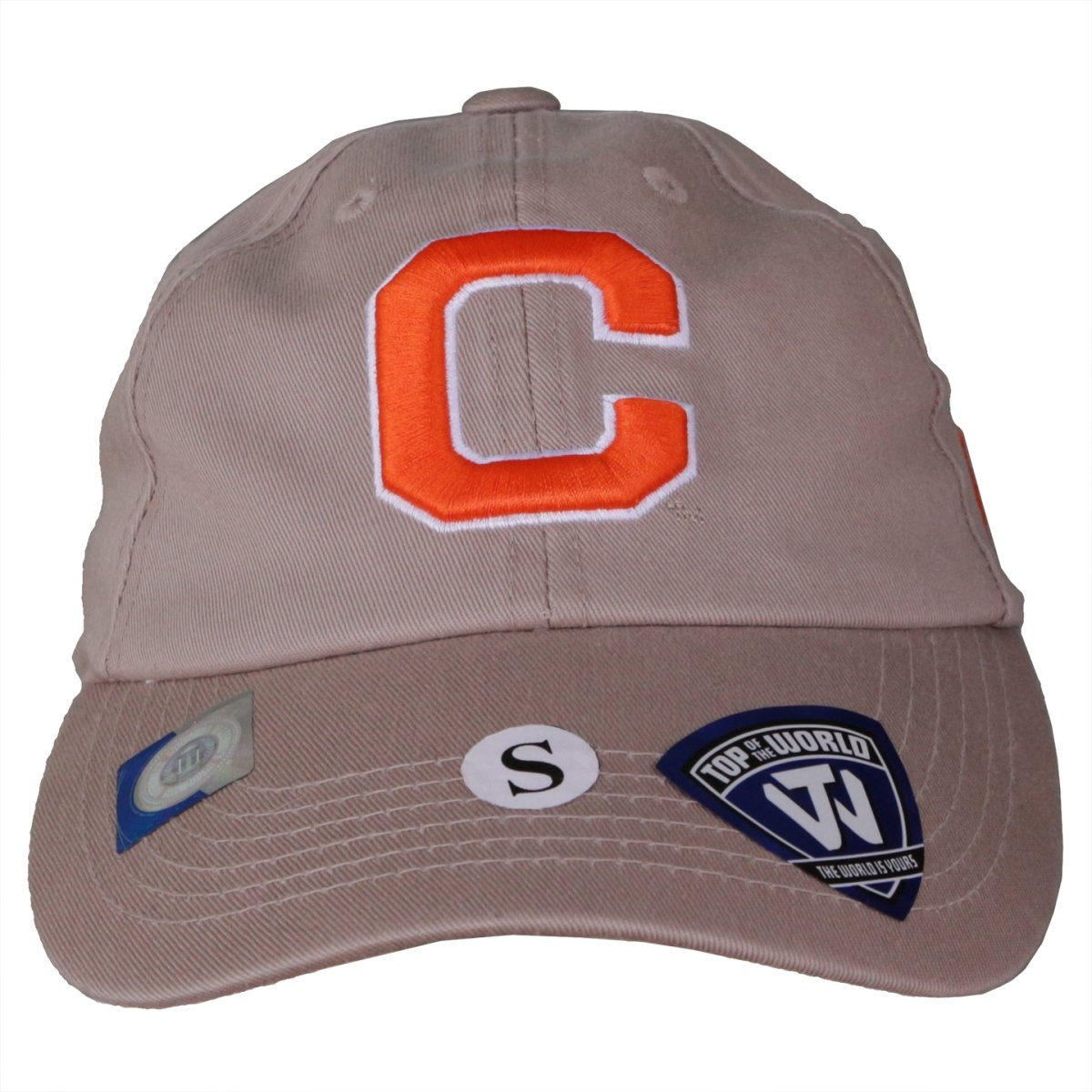 Top of the World Clemson Tigers Block Letterman Fitted Hat - Mr. Knickerbocker