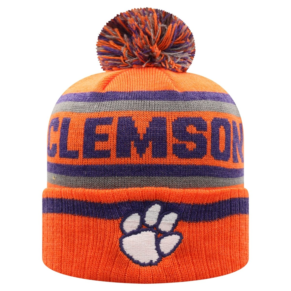 Top of the World Clemson Tigers Buddy Style Knit Beanie - Mr. Knickerbocker