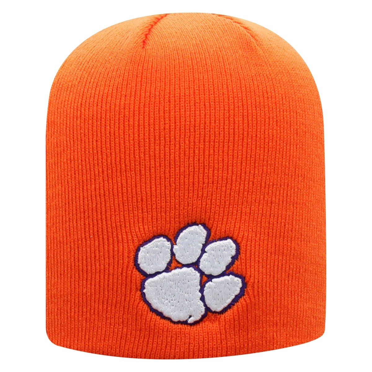 Top of the World Clemson Tigers Classic Beanie With White Paw - Mr. Knickerbocker