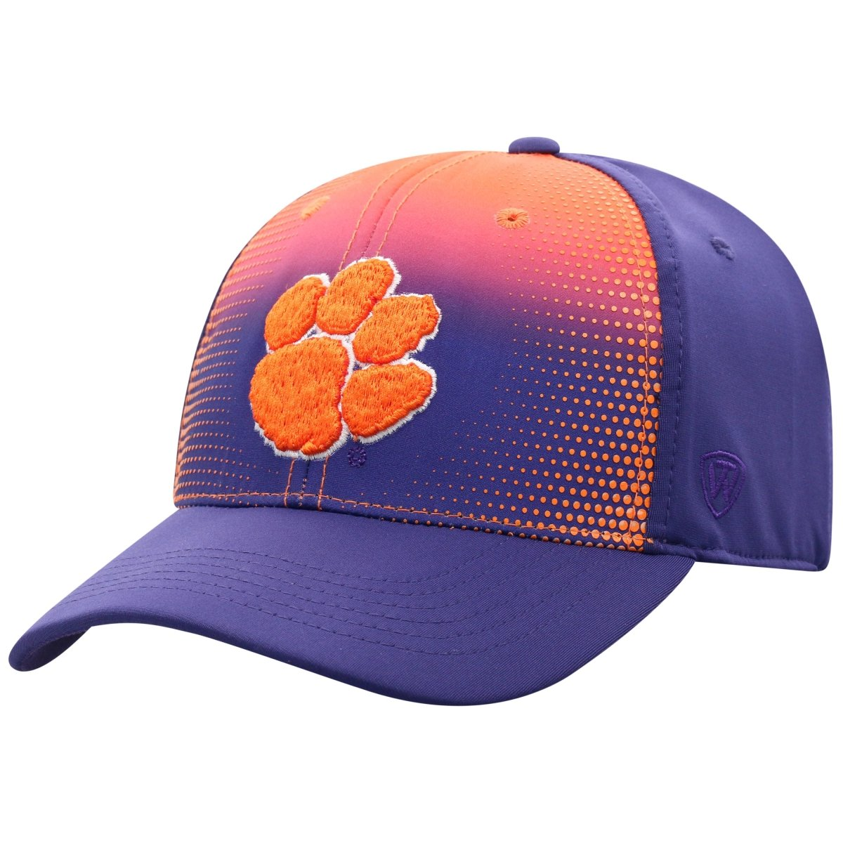 Top of the World Clemson Tigers Dot Fade Fitted Hat - Mr. Knickerbocker