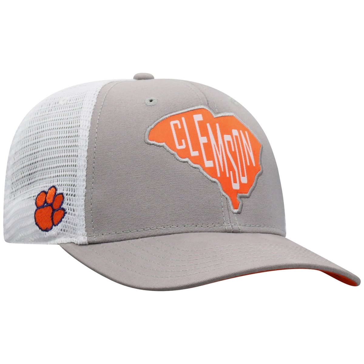 Top of the World Clemson Tigers Hirise Trucker Hat With State Patch - Mr. Knickerbocker