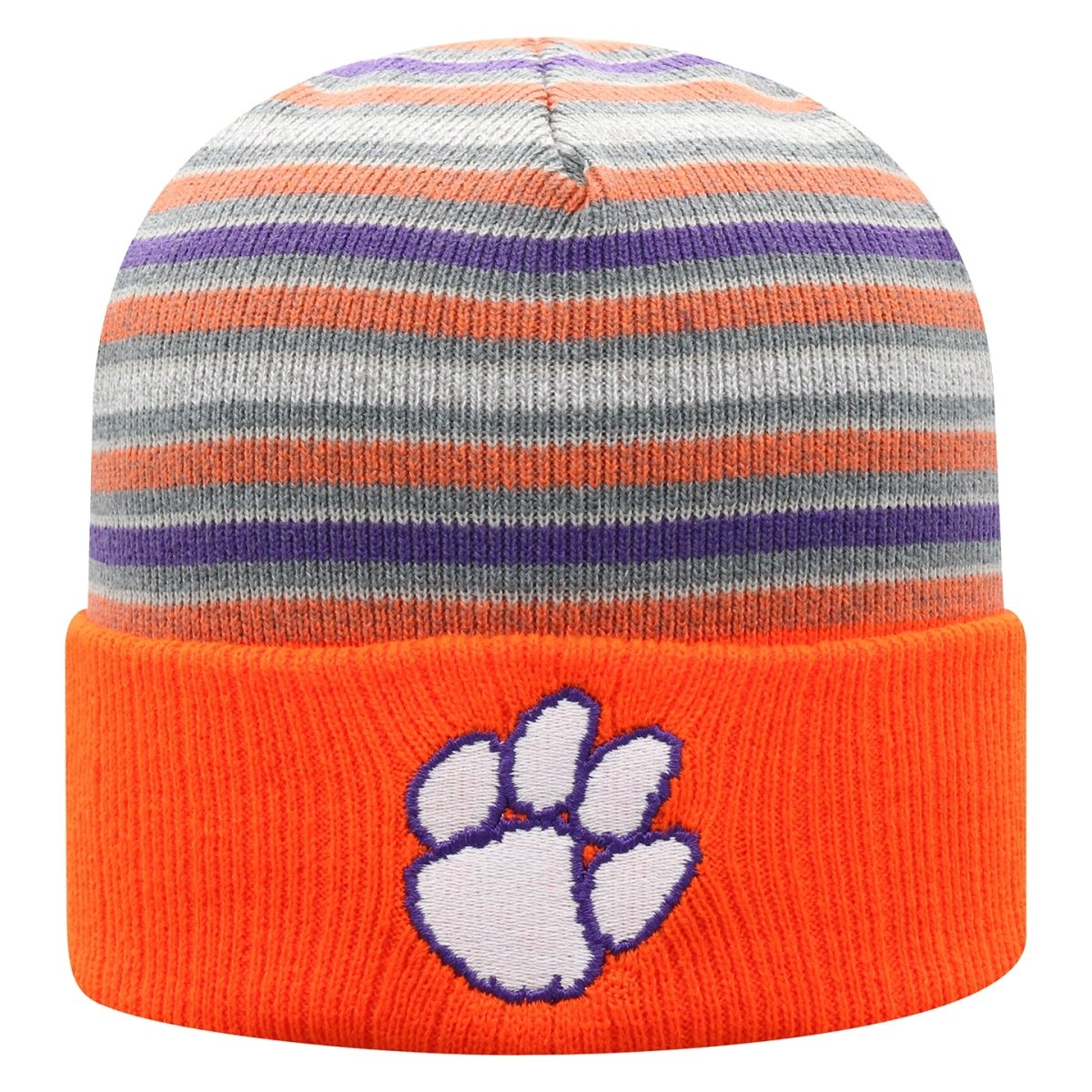 Top of the World Clemson Tigers Mcgoat Cuffed Multi-color Knit Beanie - Mr. Knickerbocker
