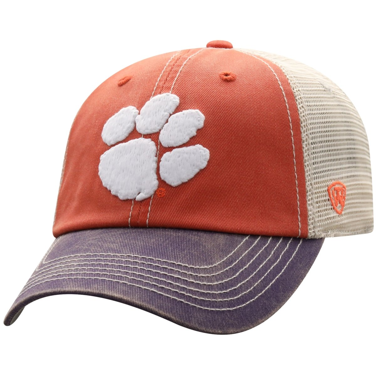 Top of the World Clemson Tigers Offroad 3-tone Trucker Hat - Mr. Knickerbocker