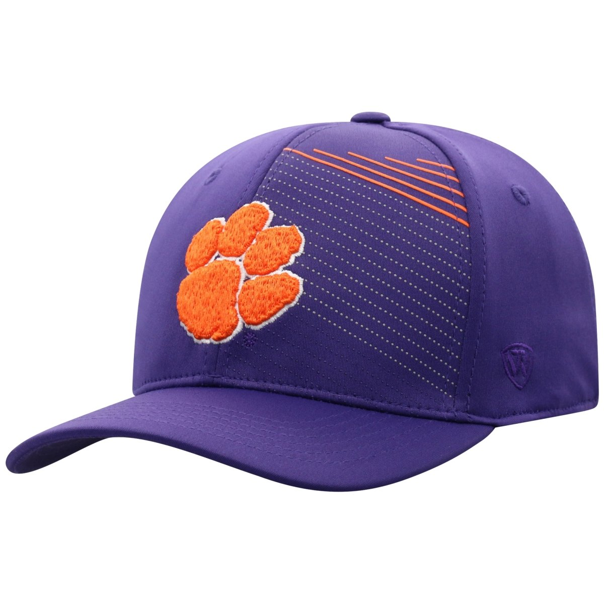 Top of the World Clemson Tigers Paw - Angles Purple Flex Fit Hat - Mr. Knickerbocker