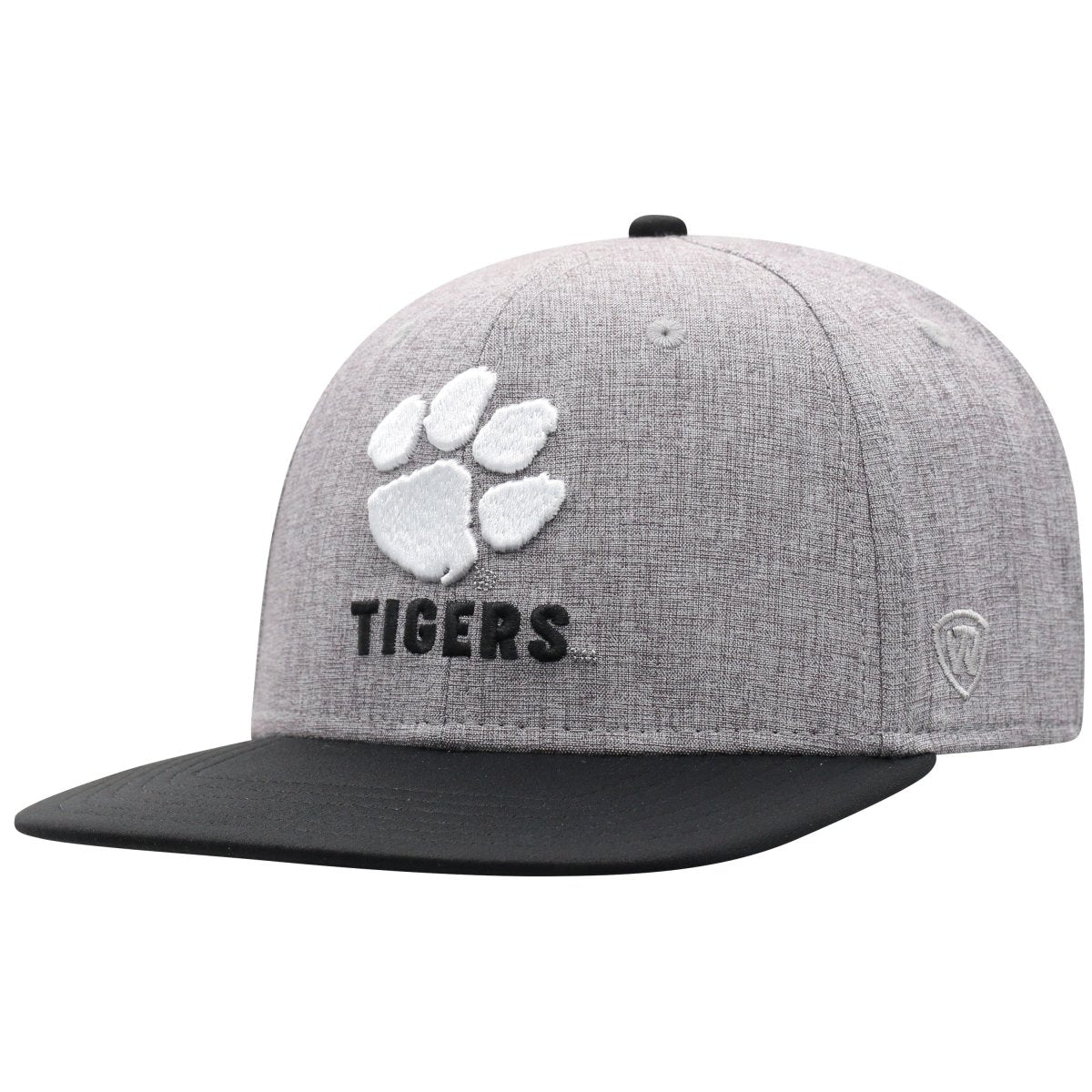 Top of the World Clemson Tigers Youth Black and Gray Fitted Hat - Mr. Knickerbocker