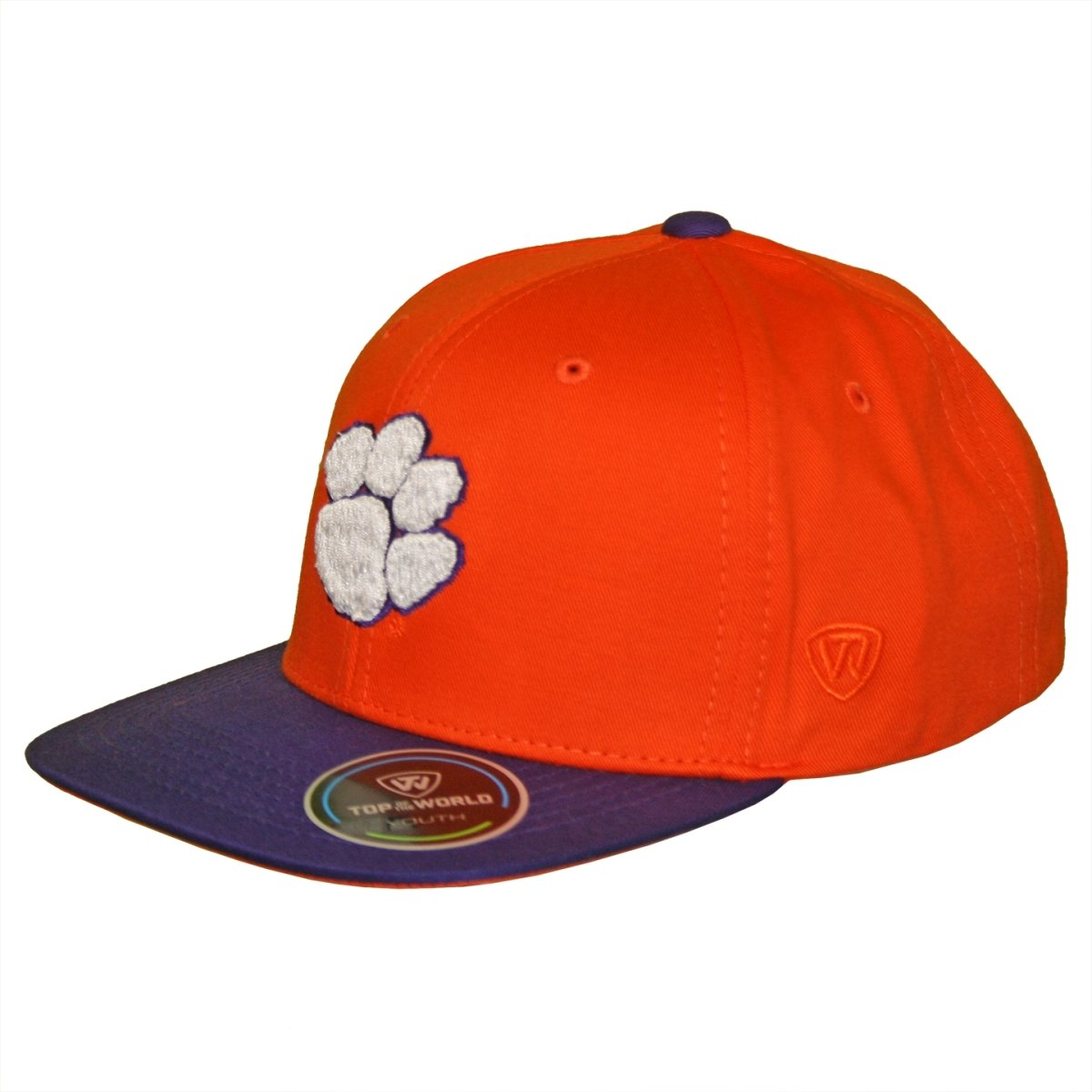 Top of the World Clemson Tigers Youth Maverick 2-Tone Adjustable Hat - Mr. Knickerbocker