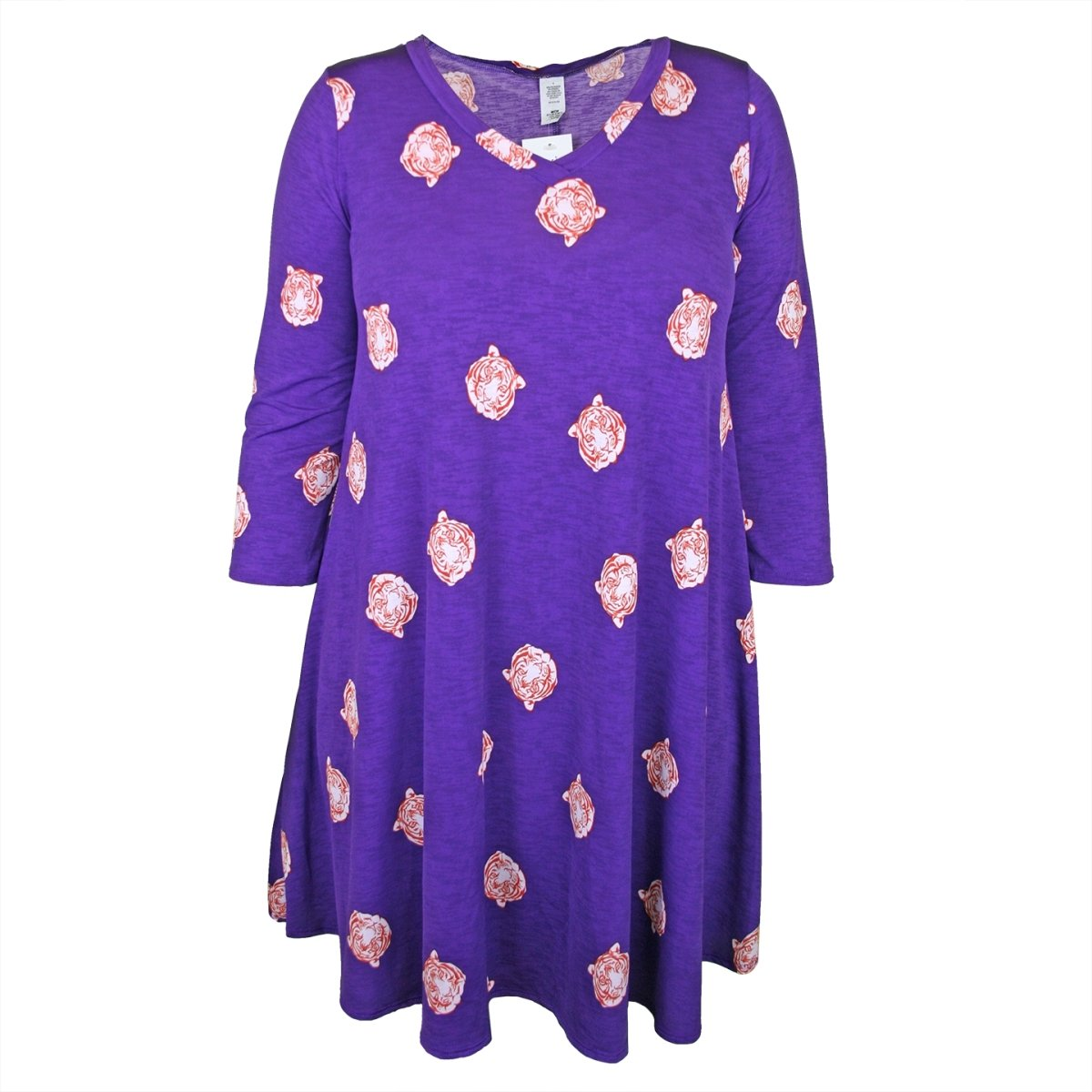 Tunic Long Sleeve Dress With Tiger Heads - Mr. Knickerbocker
