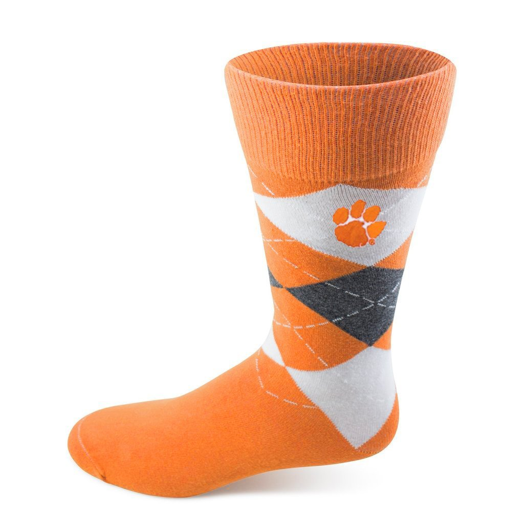 Two Feet Ahead Clemson Tigers Argyle Socks - Mr. Knickerbocker