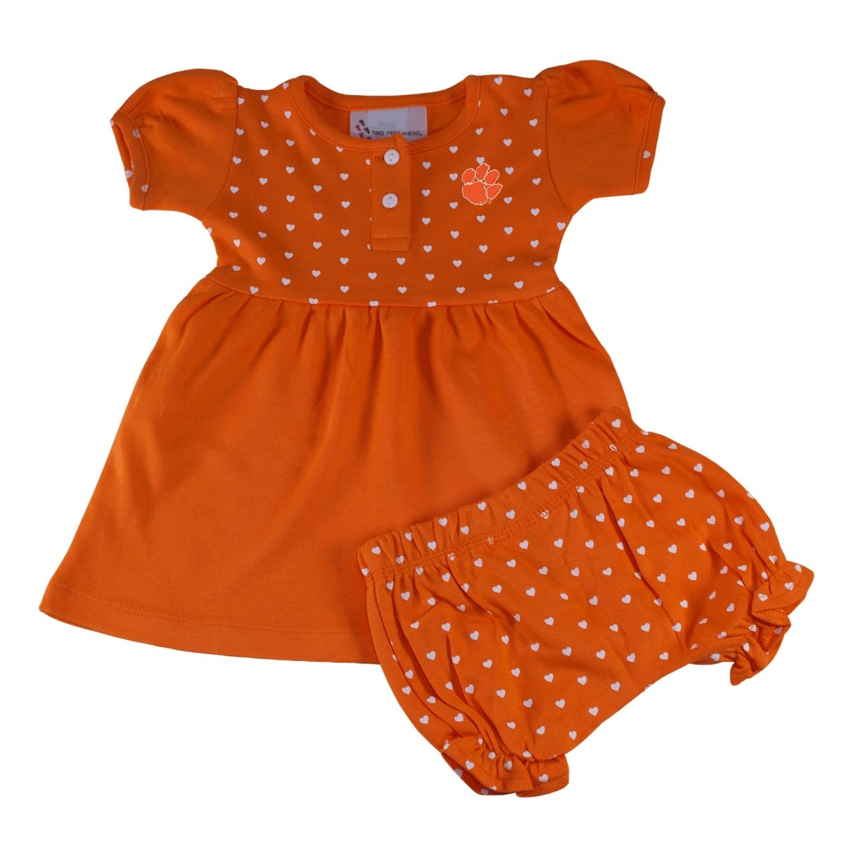Two Feet Ahead Clemson Tigers Heart Dress With Bloomers - Mr. Knickerbocker