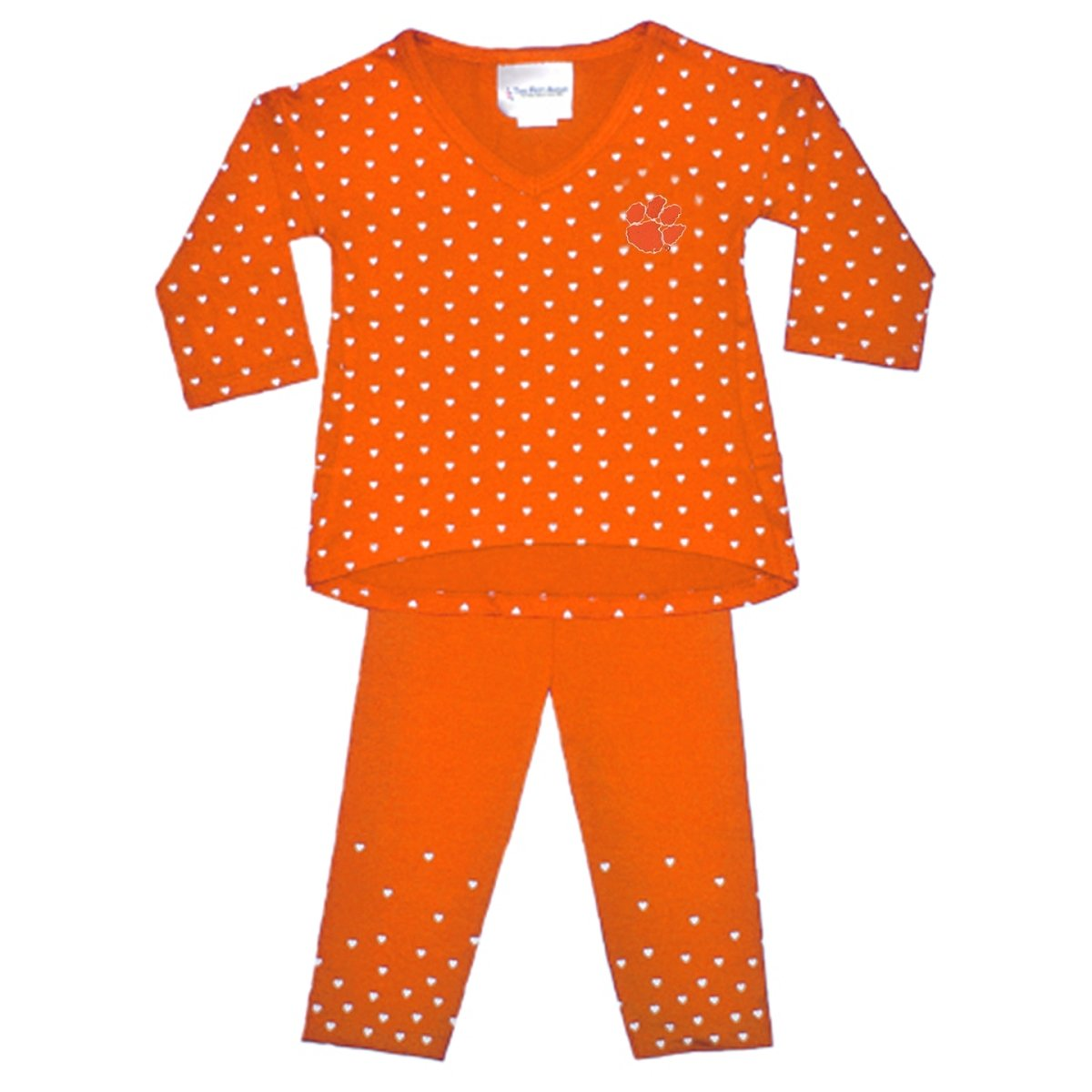 Two Feet Ahead Clemson Tigers Heart Pant Set - Mr. Knickerbocker