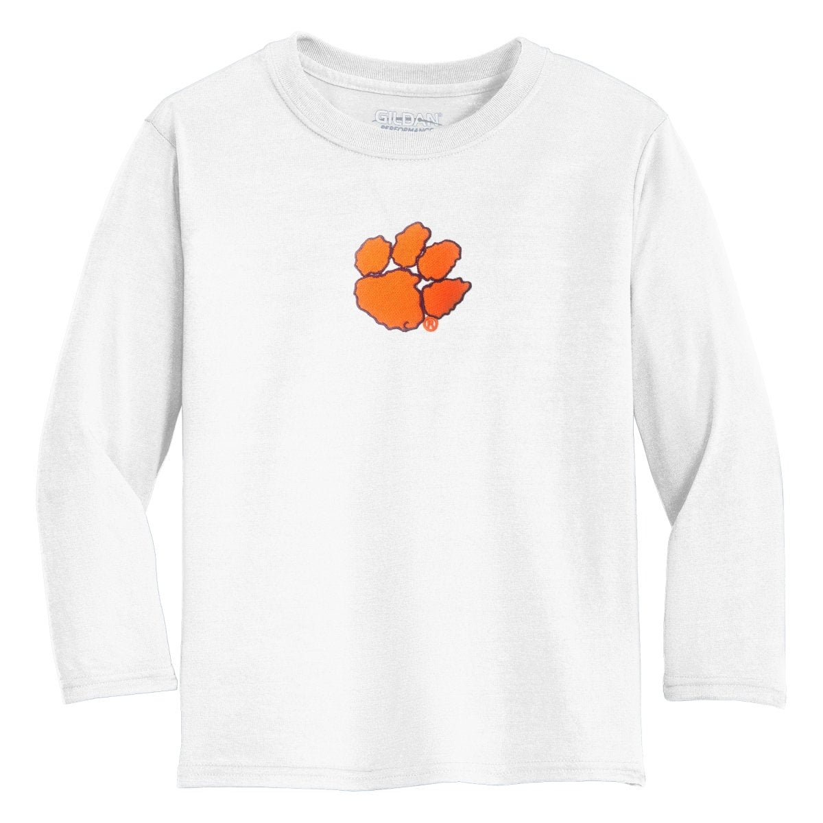 Two Feet Ahead Clemson Tigers Long Sleeve Shirt With Paw - Mr. Knickerbocker
