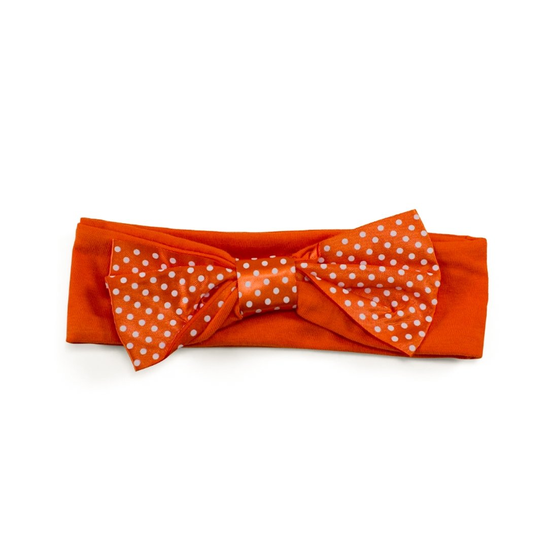 Two Feet Ahead Clemson Tigers Pin Dot Headband - Mr. Knickerbocker