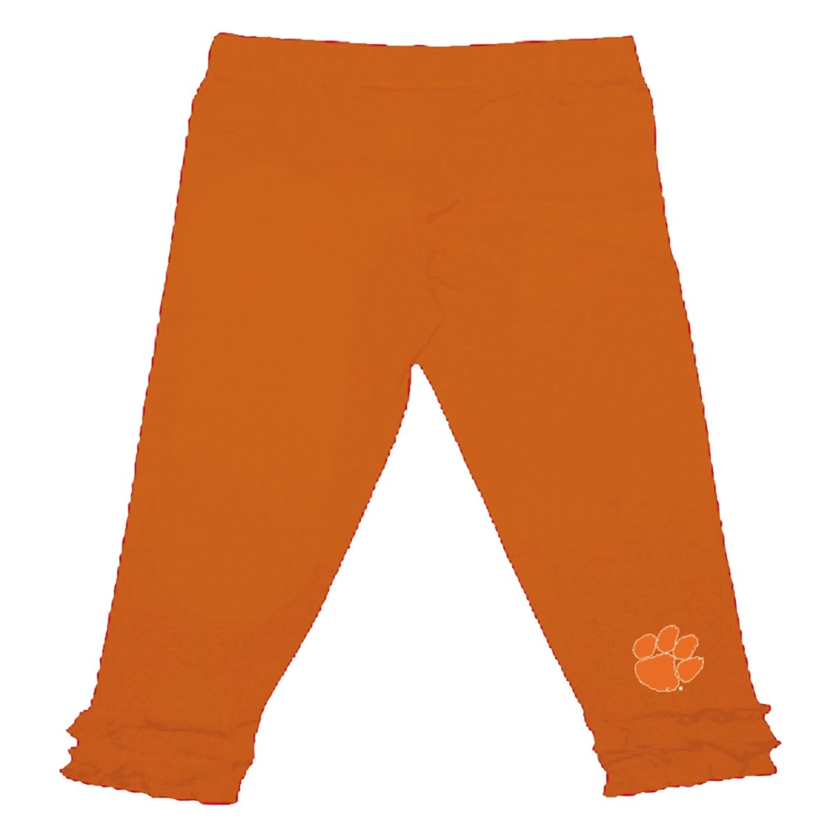 Two Feet Ahead Clemson Tigers Ruffle Legging With Paw - Mr. Knickerbocker