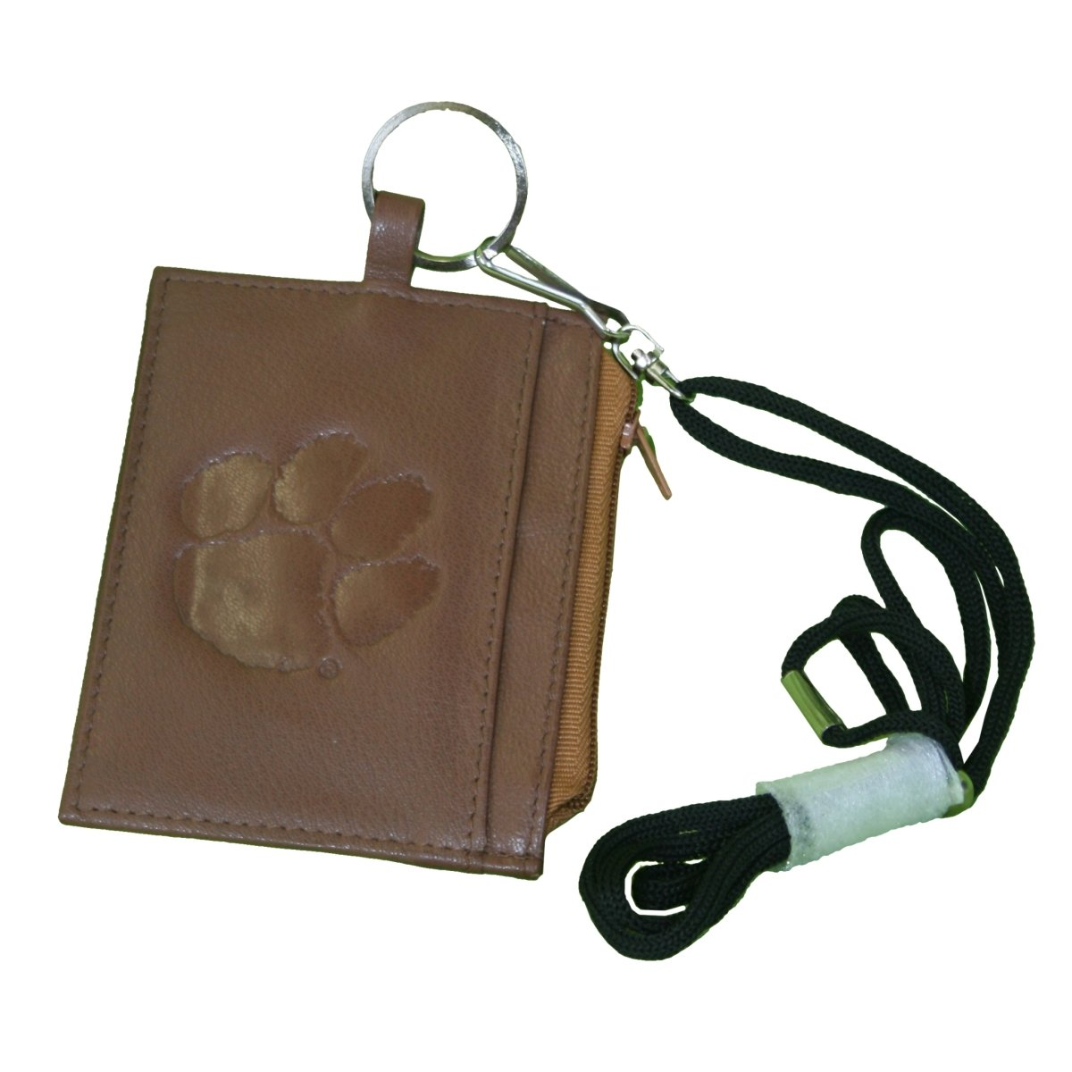 Uniglobe Leathers Clemson Tigers Embossed Wallet and Id Holder With Lanyard - Mr. Knickerbocker