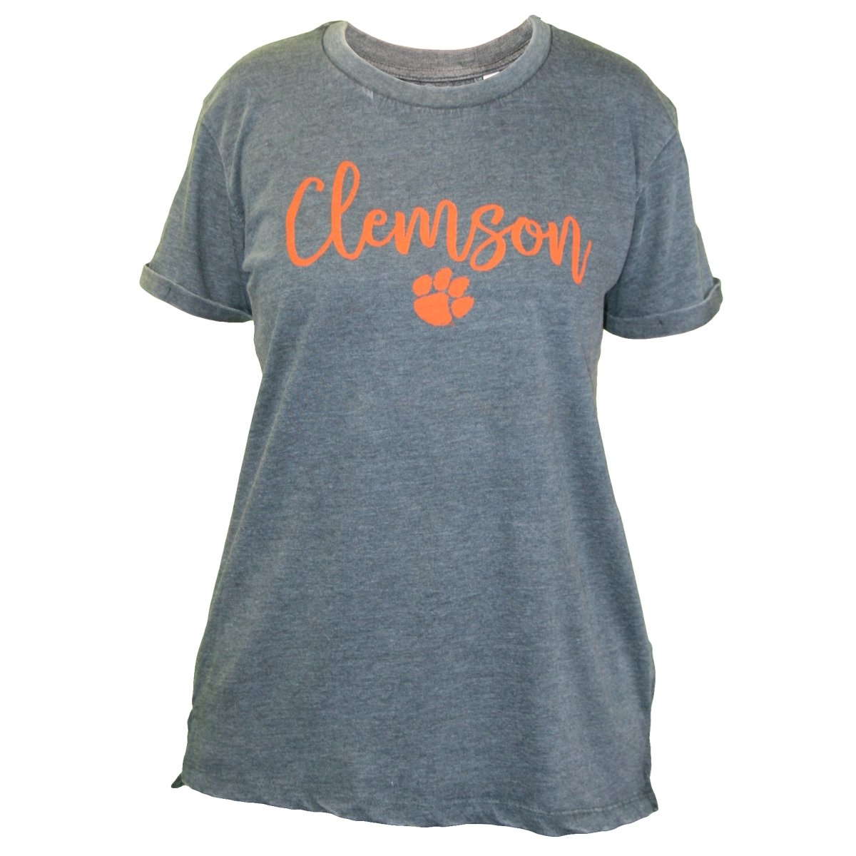 Vintage Clemson Script Over Paw Tee - Mr. Knickerbocker