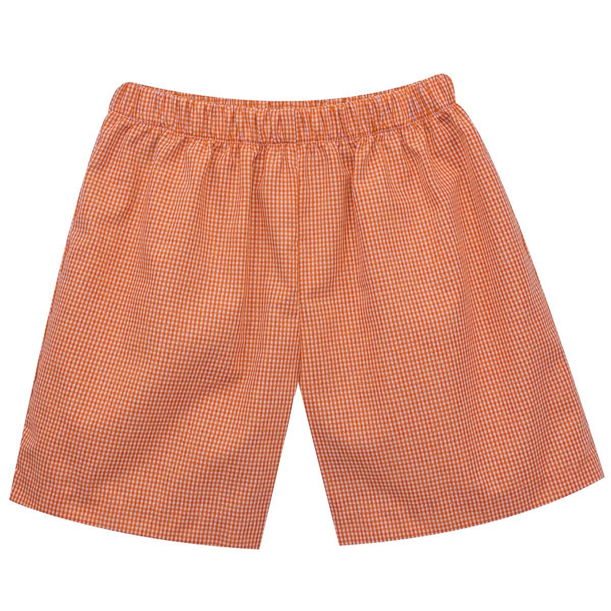 Vive La Fete Orange Check Gingham Shorts - Mr. Knickerbocker