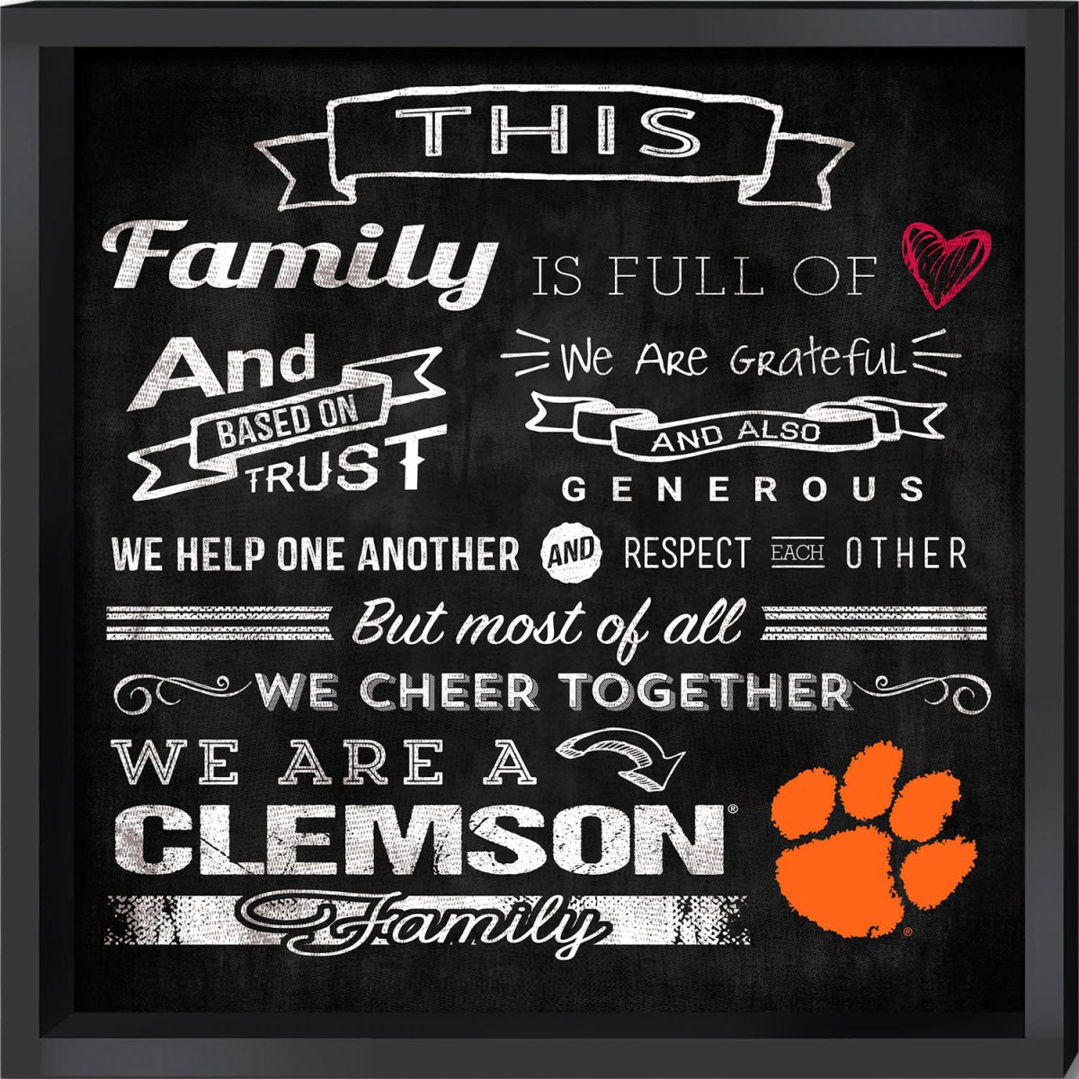 Wall Art 16'' X 16'' Family Cheer - Mr. Knickerbocker