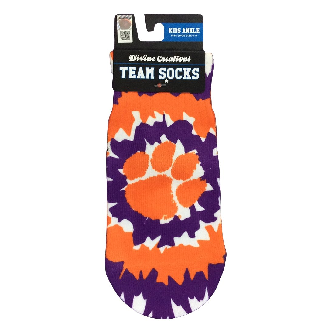 Wee Ones Clemson Tigers No Show Tie Dye Socks - Mr. Knickerbocker