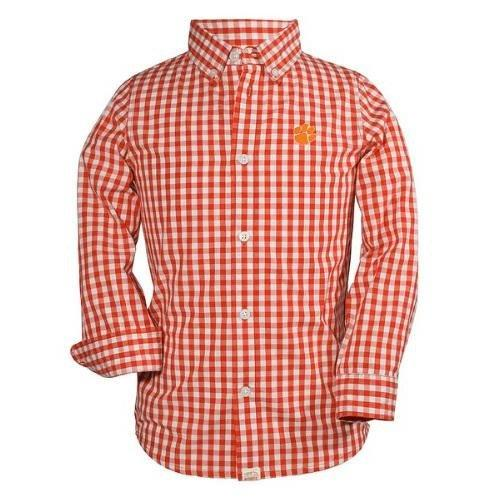 Wes and Willy Clemson Tigers Gingham Button up Shirt - Mr. Knickerbocker