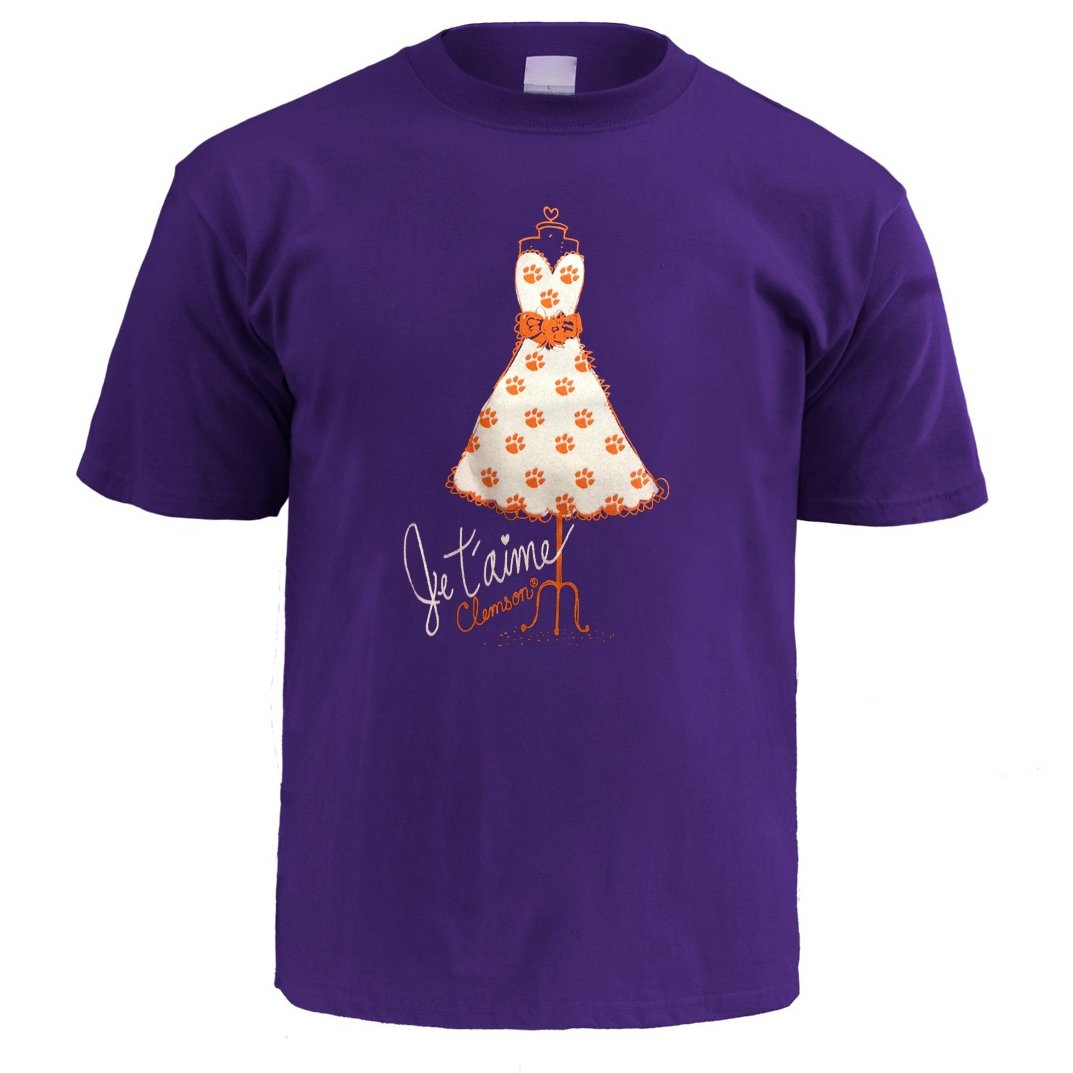 Wes and Willy Je T'aime Clemson Shirt - Mr. Knickerbocker