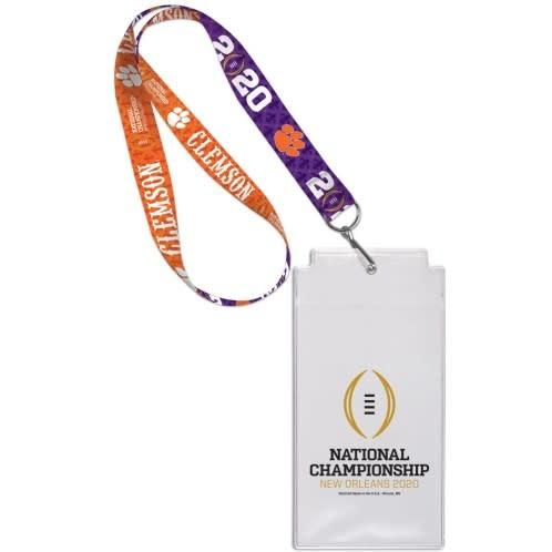 Wincraft 2019 National Championships Clemson Tigers Participant Credential Holder - Mr. Knickerbocker