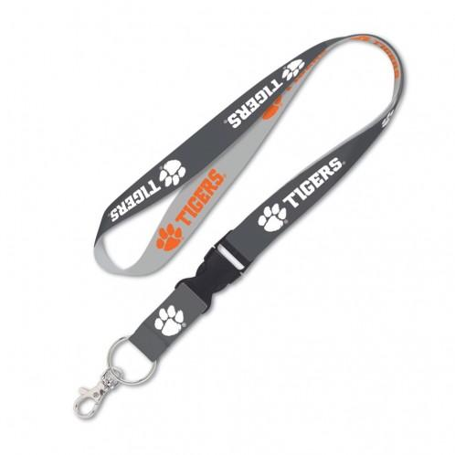 "Wincraft Clemson Tigers 1"" Charcoal Lanyard With Detachable Buckle - Mr. Knickerbocker"