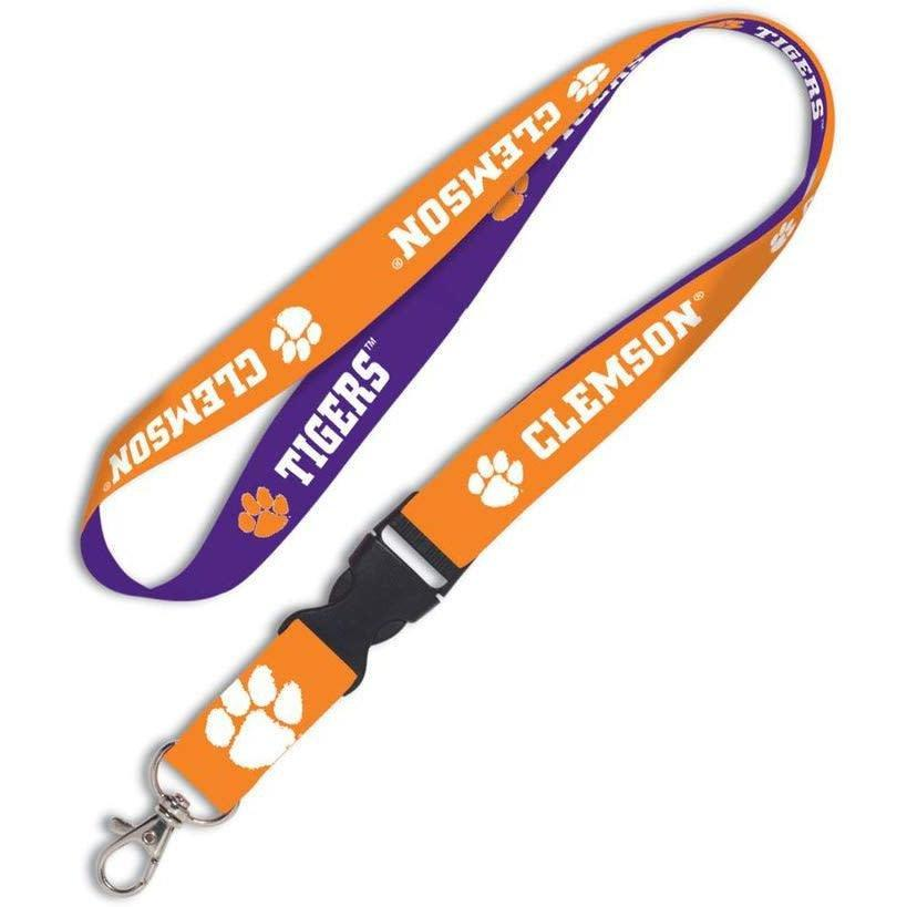 Wincraft Clemson Tigers Double Sided Lanyard With Quick Release Buckle - Mr. Knickerbocker