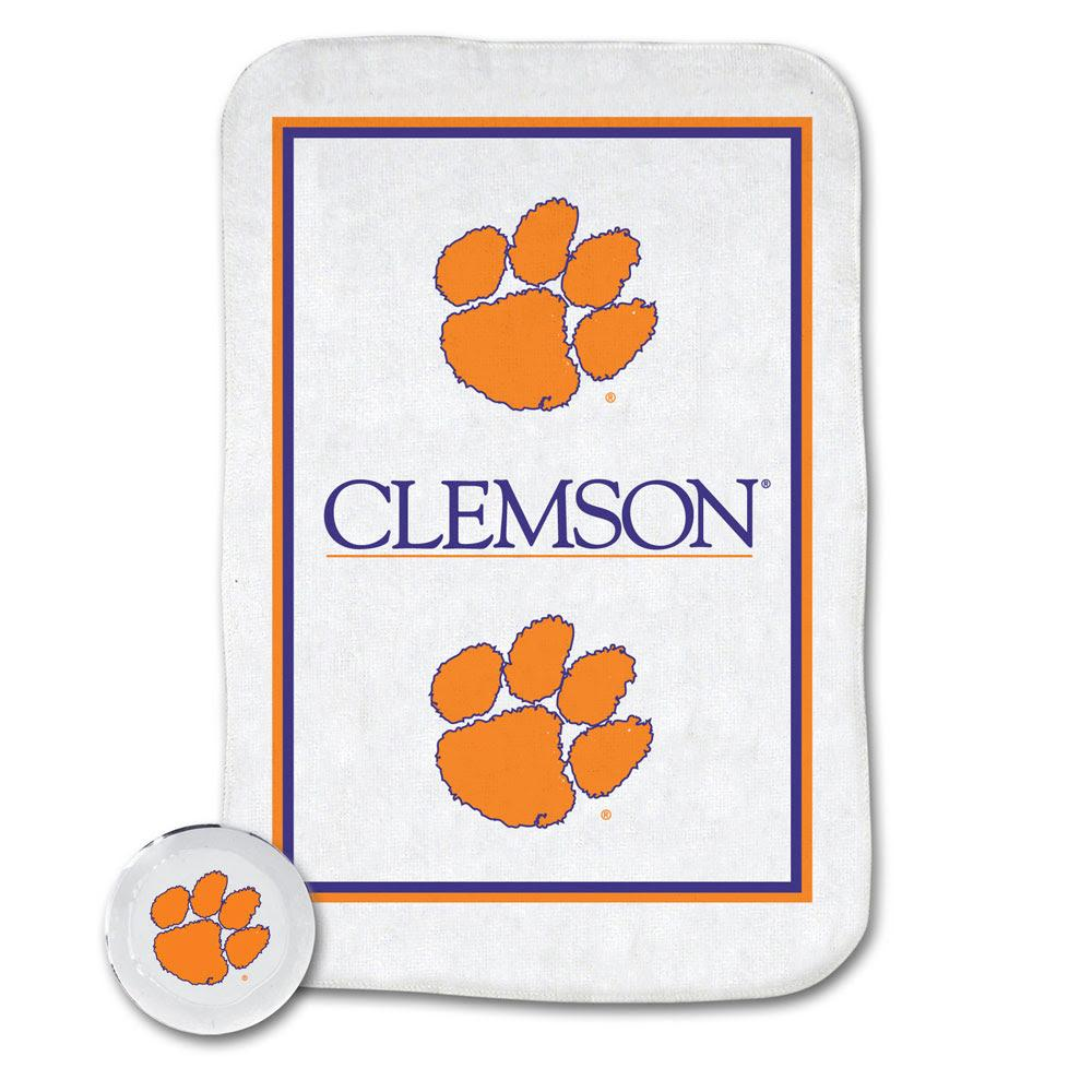 Wincraft Clemson Tigers Magic Towel - White With Orange Paw - Mr. Knickerbocker