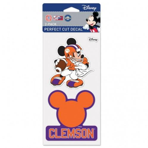 "Wincraft Clemson Tigers - Mickey Mouse 4"" X 4"" Perfect Cut Decals - 2 Pack - Mr. Knickerbocker"