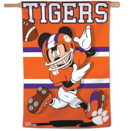 Wincraft Clemson Tigers - Mickey Mouse Vertical House Flag - Mr. Knickerbocker