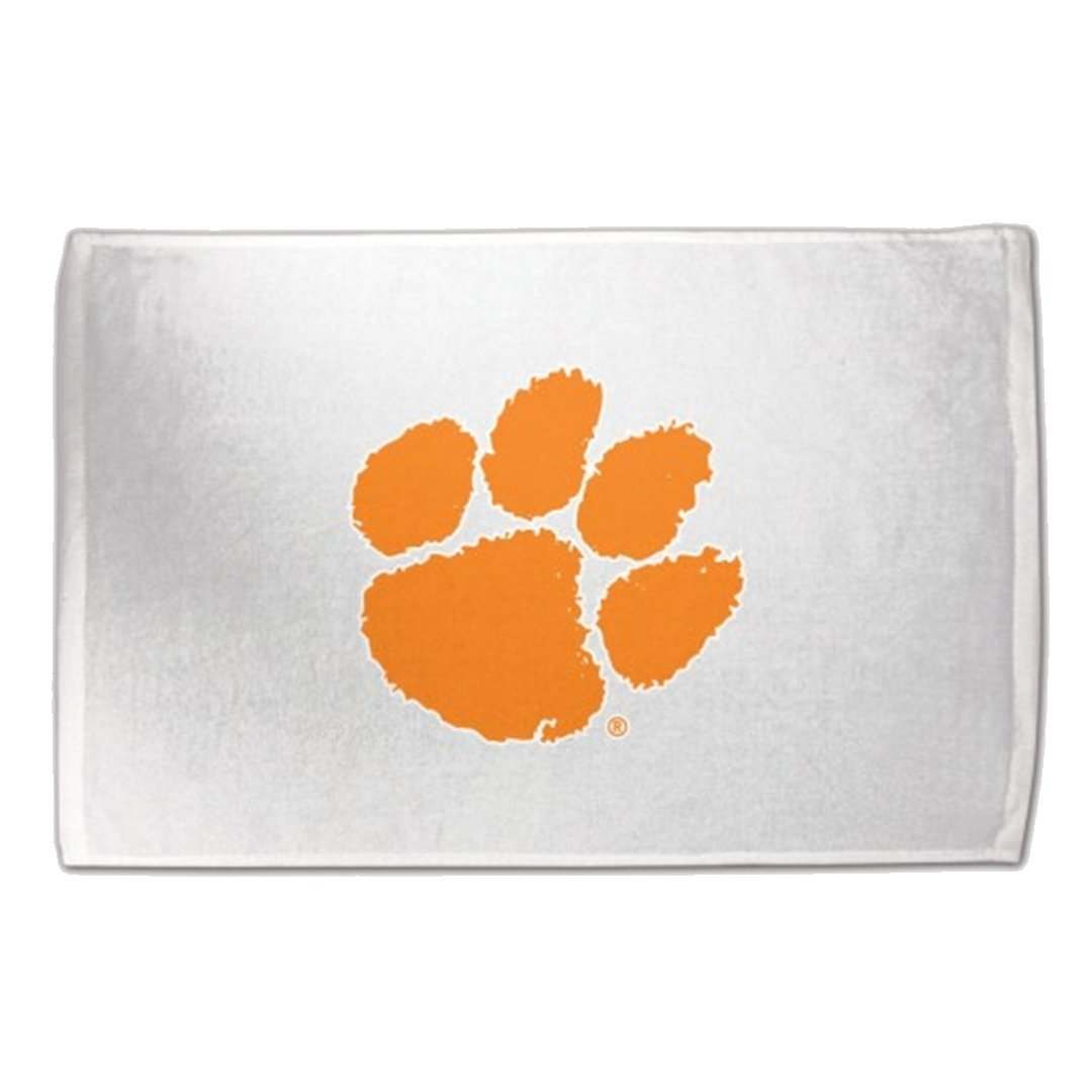 "Wincraft Clemson Tigers Orange Paw Print Sports Towel - 15"" X 25"" - Mr. Knickerbocker"