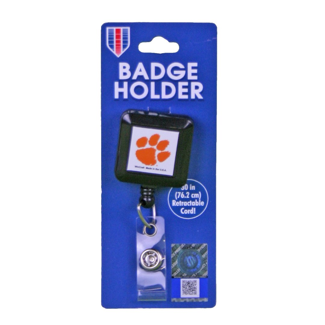 Wincraft Clemson Tigers Retractable Badge Holder - Mr. Knickerbocker