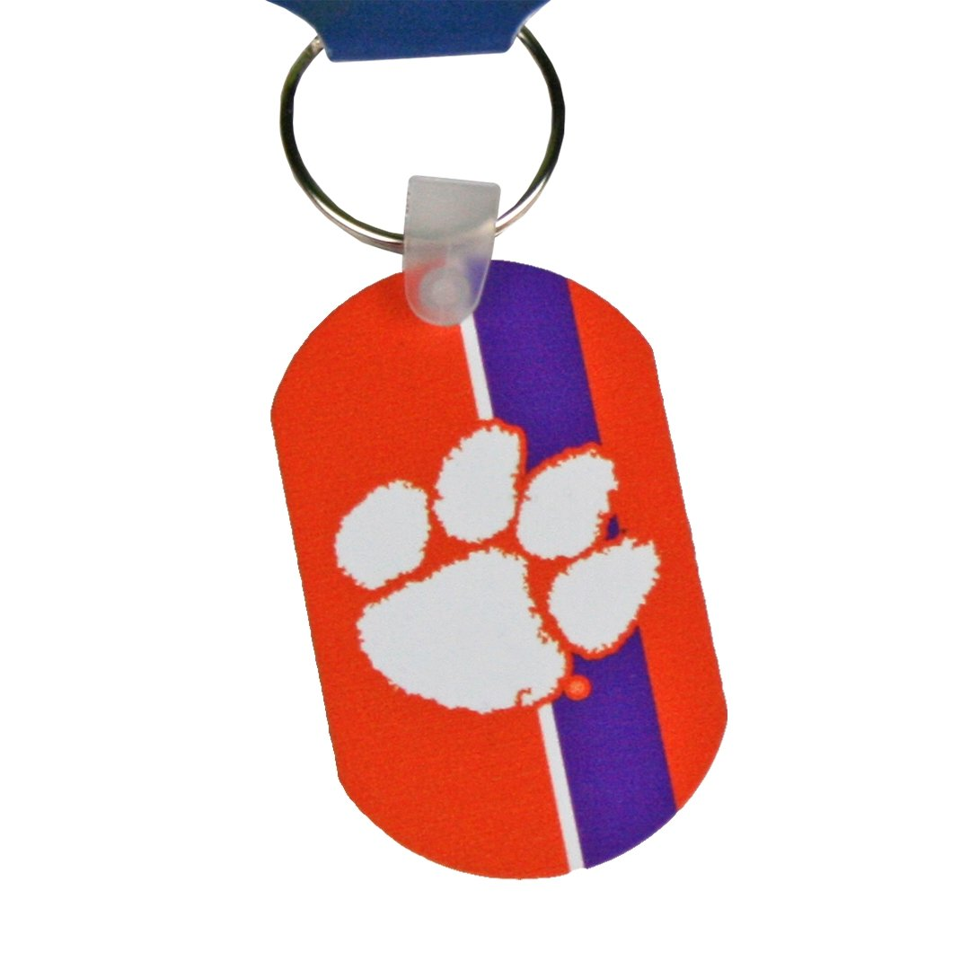 Wincraft Clemson Tigers Striped Metal Keychain - Mr. Knickerbocker