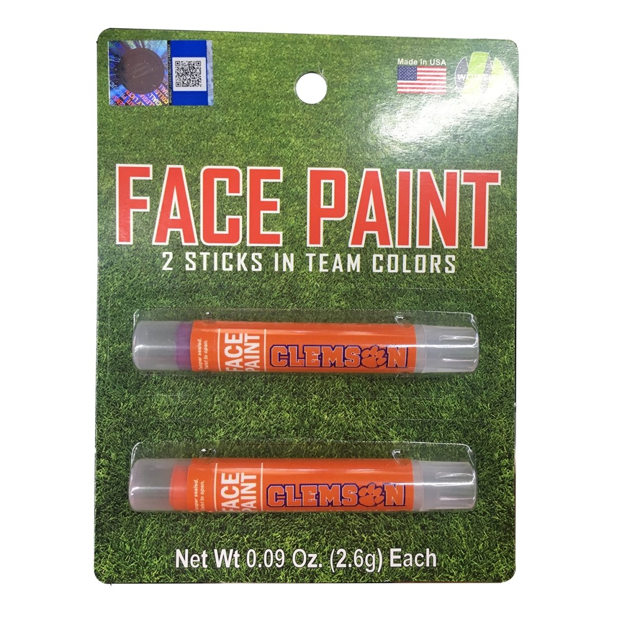 Worthy Promotional Clemson Tigers Face Paint 2pk - Mr. Knickerbocker