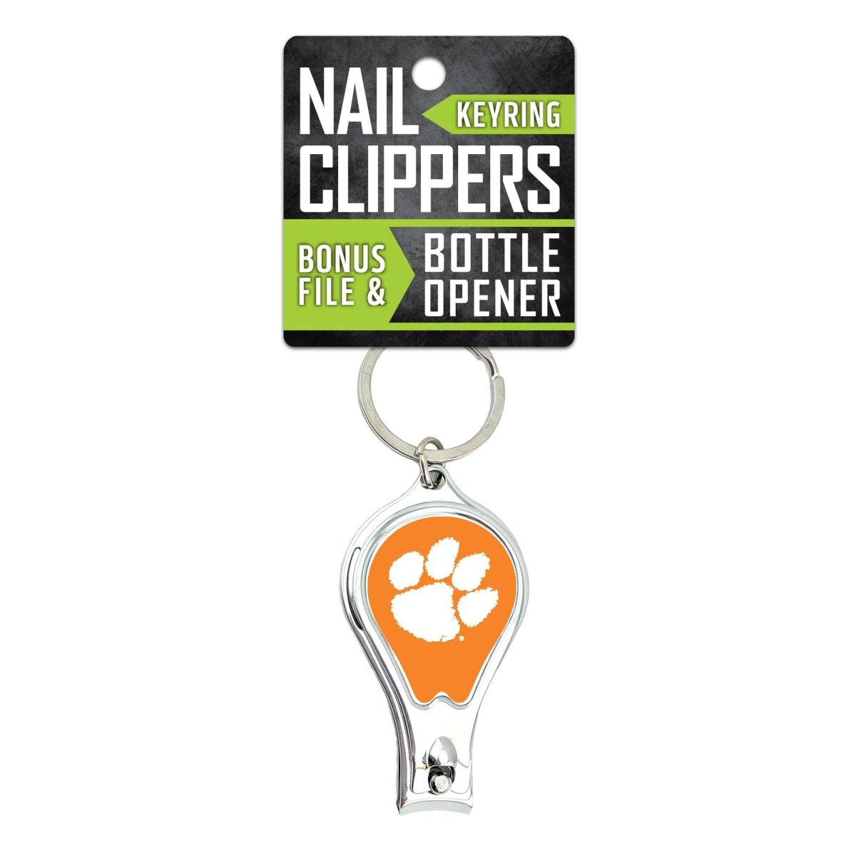 Worthy Promotional Clemson Tigers Nail Clipper and Bottle Opener Keychain - Mr. Knickerbocker