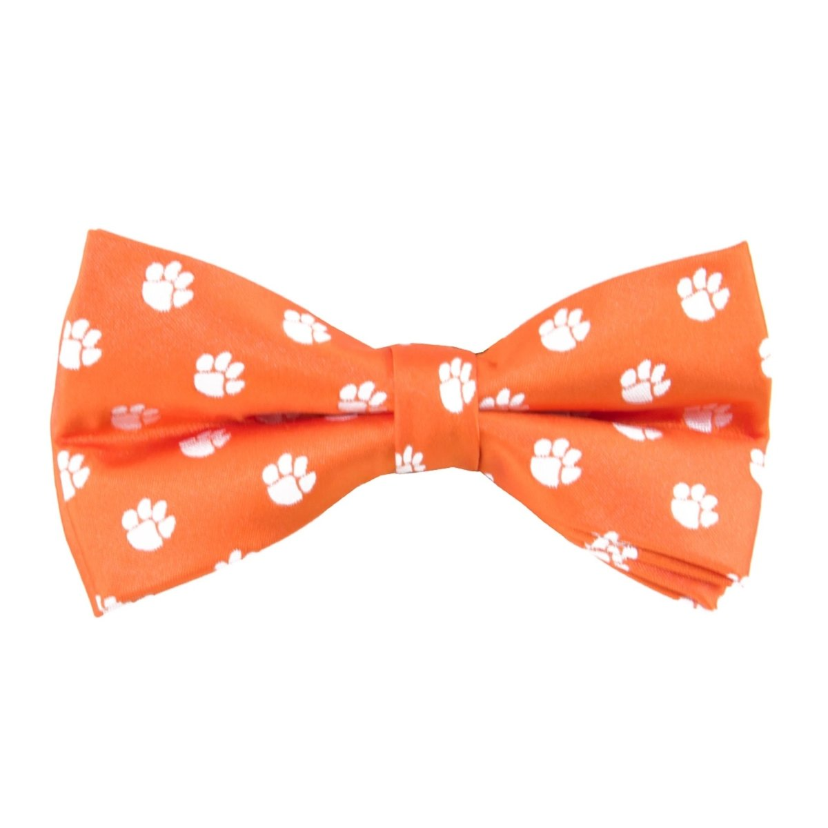 Woven Pre Tied Bow Tie - Orange With White Paws Adjustable 11 - 19'' - Mr. Knickerbocker