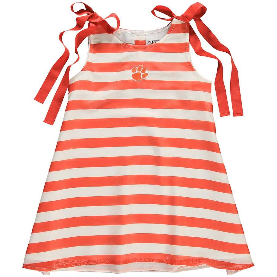 Youth Olive Striped Dress - Mr. Knickerbocker