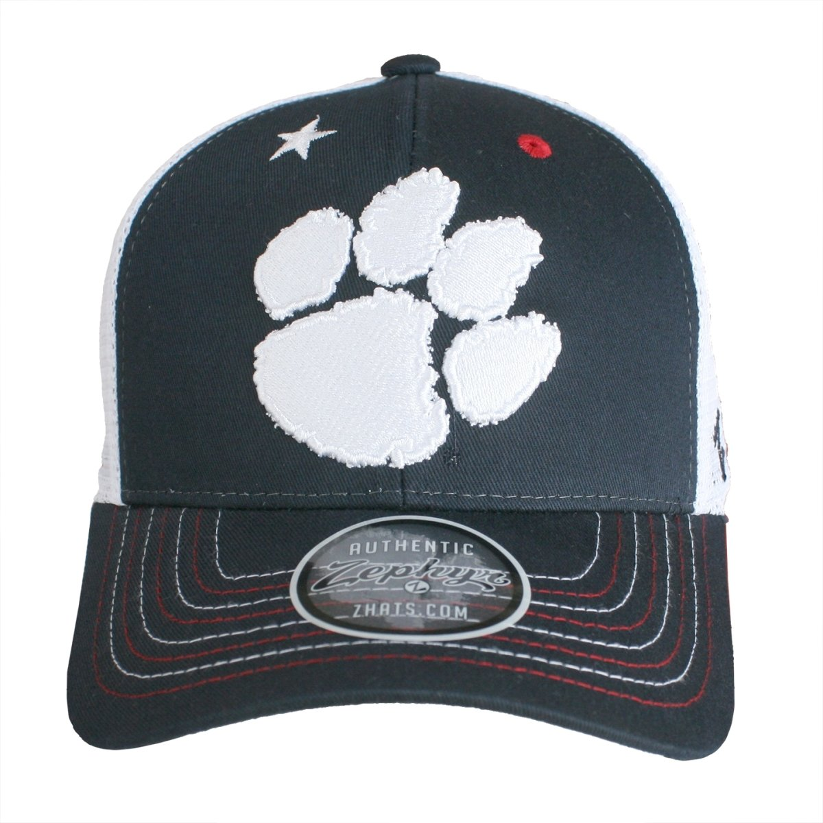 Zephyr Spirited Navy Mesh Snap Back Hat with Paw and Star - Mr. Knickerbocker