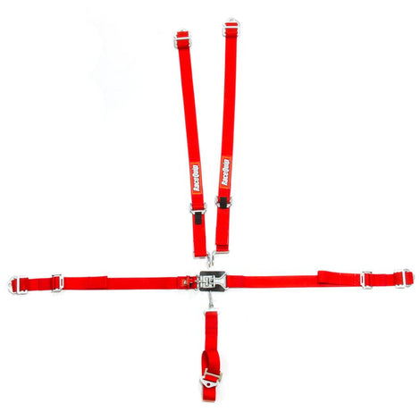 5pt Harness Set Jr LL Red - Augusta Motorsports Racing Fire Systems