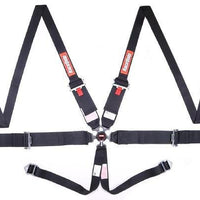 6pt Harness Camlock HNR Black SFI - Augusta Motorsports Racing Fire Systems