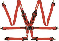 6pt Harness Camlock P/D HNR Red FIA - Augusta Motorsports Racing Fire Systems