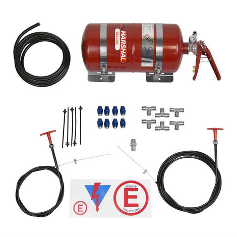 Lifeline Racing Fire Extinguisher System Zero 2000 4.0 Liter 10lb Pull Cable System - Augusta Motorsports Racing Fire Systems