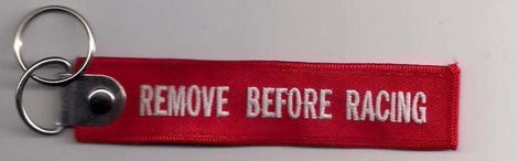 Remove Before Racing - Extinguisher, Safety Tag, Key Chain - Augusta Motorsports Racing Fire Systems