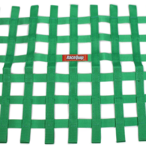 Ribbon Window Net Green Non-SFI 18in x 24in - Augusta Motorsports Racing Fire Systems