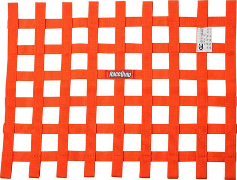 Ribbon Window Net SFI Orange - Augusta Motorsports Racing Fire Systems