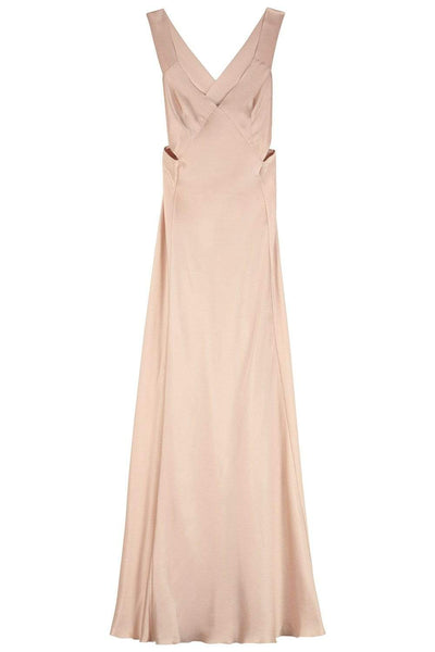 Alberta Ferretti Silk Satin Evening Dress