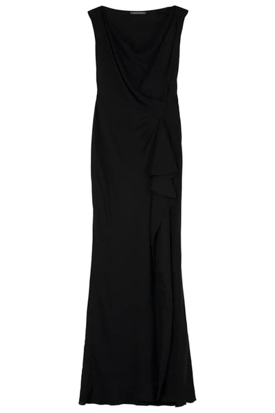 Alberta Ferretti Draped Floor-Length Evening Gown