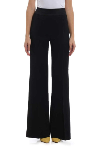 Alberta Ferretti High Waist Black Trousers