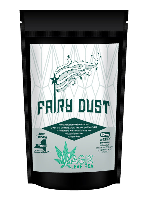 Fairy Dust CBD hemp tea bag from Magic Leaf Tea company