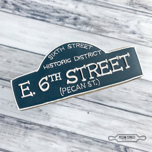 6th Street Sign Cookie Cutter